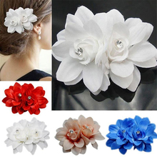 цены 1 Pcs Bridal Lily Flower Hairpin Wedding Bridesmaid Party Jewelry Accessories Hair Clip