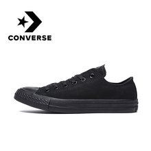 Original Authentic Converse ALL STAR Classic Unisex Skateboarding Shoes Low-Top Lace-up Durable Canvas Footwear Black 1Z635(China)
