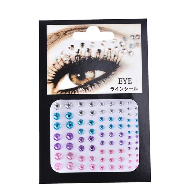 Christmas DIY Eyebrow Adhesive Crystal Glitter Face Body Art Jewels Festival Party Eye Stickers Tattoo Makeup Xmas Decor 1