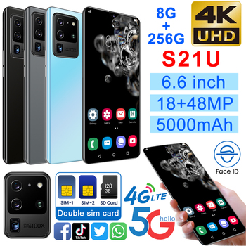 S21U 6.6 Smartphone 8GB RAM 256GB ROM Snapdragon 855 Android S20 Cellphone Dual SIM Mobile Phone Cell Smart Phones S20U Global