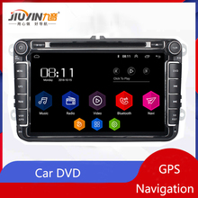 JIUYIN Android 8.1 Radio Car DVD GPS Navigation Quad Core For Skoda POLO GOLF 5 6 PASSAT TIGUAN TOURAN Caddy Multimidia free shipping android 9 inch car dvd player for vw volkswagen polo passat golf touran sharan quad core usb gps navigation radio