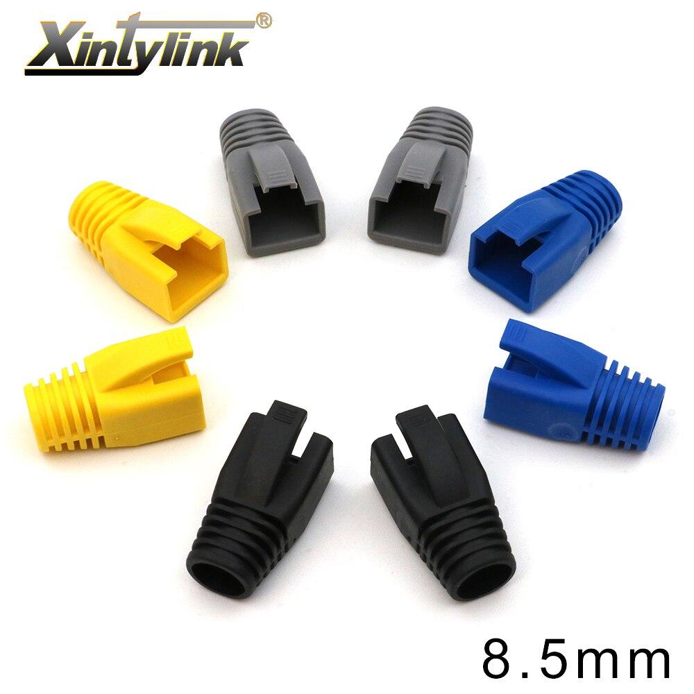 Разъемы xintylink rj45 cat6a cat7 rj 45 rg, сетевой кабель ethernet, коннектор cat 7, разноцветные сапоги, цветная Опора 10/50/100 шт.