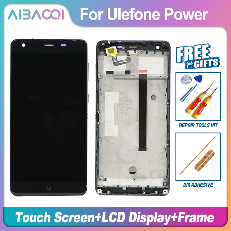 AiBaoQi New Original 5.5 inch Touch Screen + 1920X1080 LCD Display+Frame Assembly Replacement For Ulefone Power model Phone-in Mobile Phone LCD Screens from Cellphones & Telecommunications    1