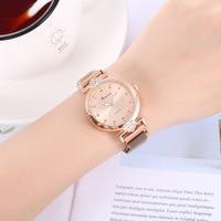 Novo estilo de verão vendas quentes coração forma diamante conjunto ímã relógio pulseira estudantes simples relógio de quartzo|  -