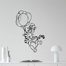 Disney Winnie the Pooh wall applique jump vinyl sticker nursery home decoration Wall Decals Cartoon Vinyl Sticker N200