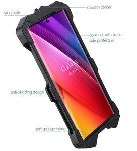 Image 5 - Per Samsung Galaxy Note 10 Plus + Caso Armatura Polvere Pesante Alluminio del Metallo protegge la copertura della cassa del telefono staffa Raytheon Antiurto