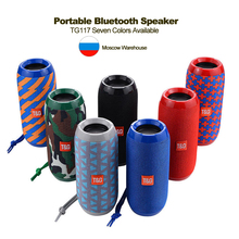 Portable Speaker Wireless Bluetooth Speakers TG117 Soundbar Outdoor Sports Waterproof Support TF Card FM Radio Aux Input