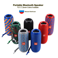 Portable Speaker Wireless Bluetooth Speakers TG117 Soundbar Outdoor Sports Waterproof Support TF Card FM Radio Aux Input(China)