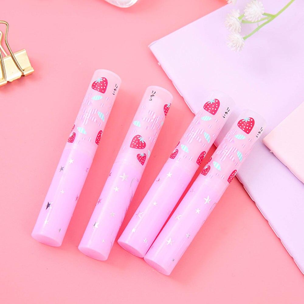 1PCS Strawberry Temperature Changing Color Lipstick Moisturizer Nutritious Waterproof Lip Cream Portable Lip Balm