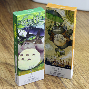 Image 2 - 6 pack/Lot Cartoon Totoro bookmark Anime paper page holder Memo card Stationery office School supplies separador de libros A6392