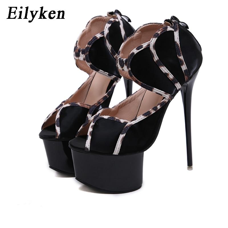 New Womens Flower Pumns Platform Stiletto High Heels Buckle Peep Toe Shoes