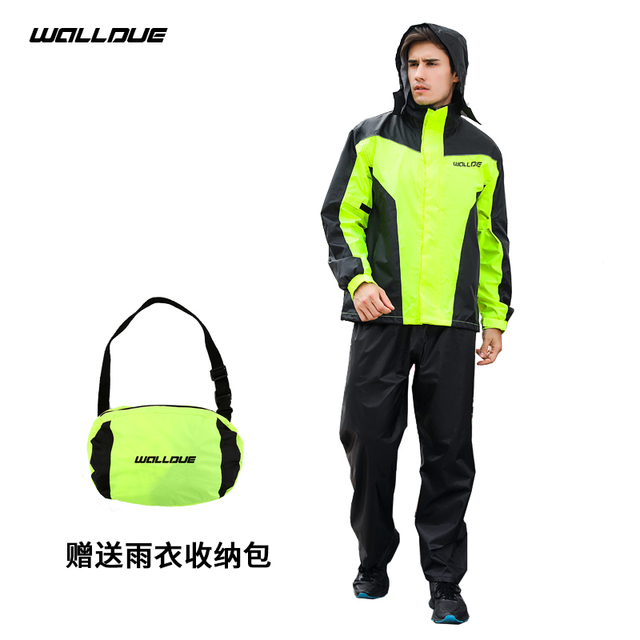 Ultra-Thin Motorcycle Raincoat Rain Pants Suit Set Adults Rain Coats Men Waterproof Jacket Trench Coat Mens Sports Suits Gift 2