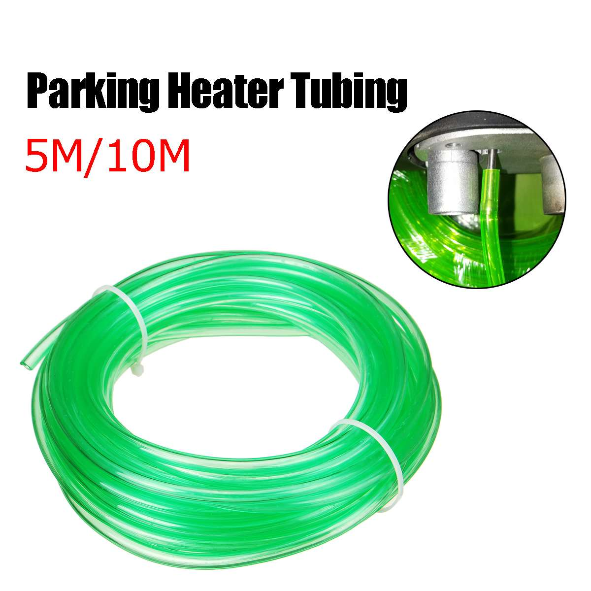 5M / 10M Car Heater Fuel Pipe Hose Line Green For Oil Pump Dedicated Tubing For Eberspacher For Diesel Air Parking Heater