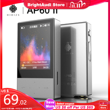 Hidizs AP60 II HiFi Potable Bluetooth 4.0 Apt x DSD USB DAC FLAC AAC APE MP3 Music Player AKM4452VN MAX97220A AP60II AP60 II
