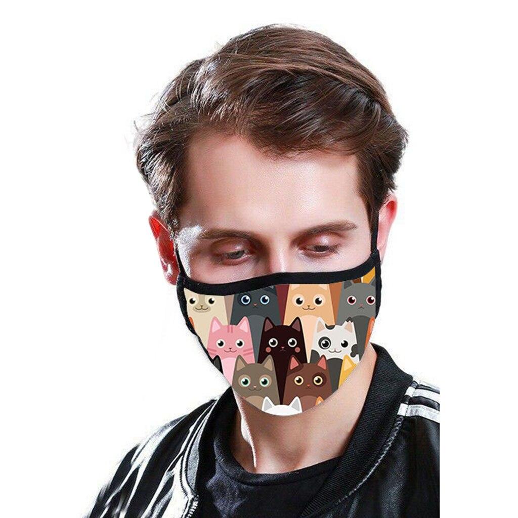 Cartoon Cat Themed Face Mask