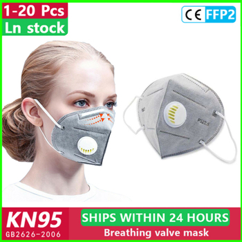 10/20pcs 5 Layers Face Mask 95% Filtraion non woven Mouth Mask Anti-Dust KN95 Filtration Against Droplet Safety mask mascarillas