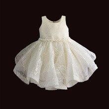 Одежда для маленьких девочек, платье пачка на 1 й день рождения для девочек, вечернее платье с жемчужным поясом для крещения, детские платья принцессы для девочек 6, 12, 18, 36 месяцев