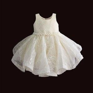 Image 1 - Baby Meisje Kleding 1st Verjaardag Meisjes Tutu Jurk Parel Riem Doop Avond Party Gown Prinses Kinderen Jurken Voor Meisje 6 12 18 36M