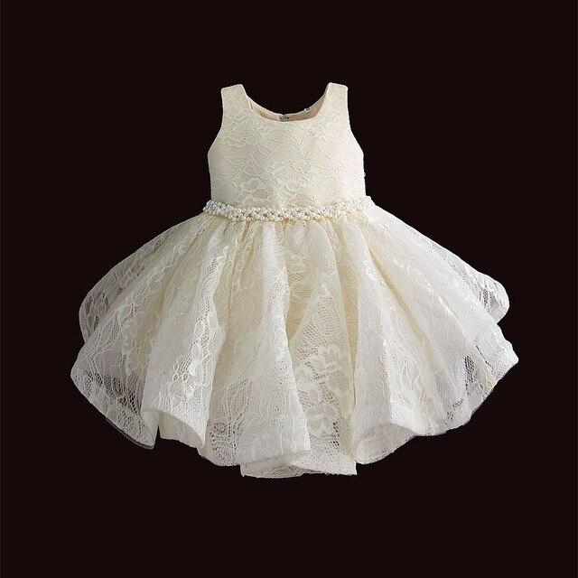 Baby Meisje Kleding 1st Verjaardag Meisjes Tutu Jurk Parel Riem Doop Avond Party Gown Prinses Kinderen Jurken Voor Meisje 6 12 18 36M