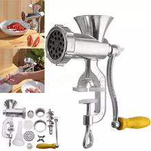 Trituradora de carne Manual de acero inoxidable 304, máquina de llenado de salchichas Perchero de pollo de carne de cerdo con dos bocas de Enema para Cocina