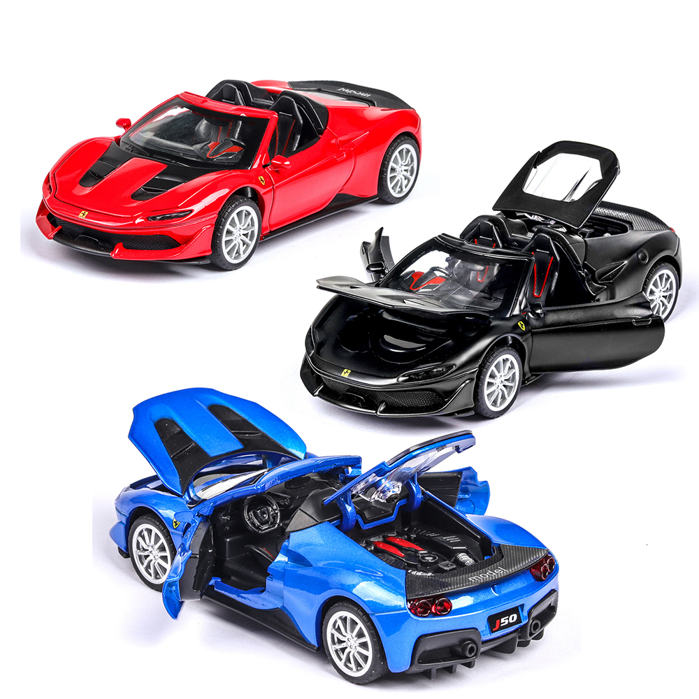 1:32 J50 Vehicles Hot Wheel Car Model Metal Body Doors Can Be Opened Musical Lighting Machine Diecast Toy