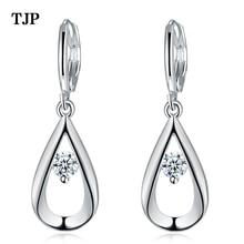 2019 Fashion Silver Colors Pendant Earrings High Quality Cubic Zirconia Women Wedding Charm Jewelry