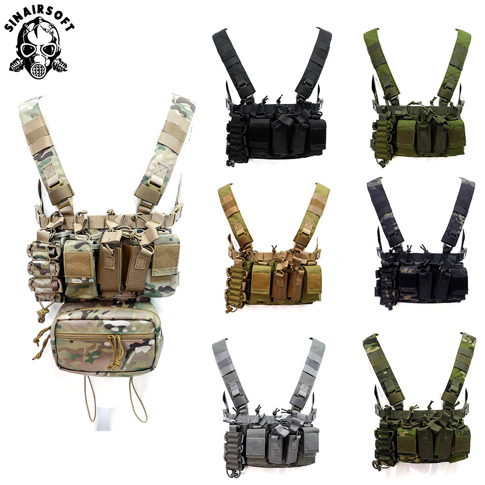 Combat Paintball Multi-pocket Tactical Equipment Military Gear Hunting Vest Chest Rig Battlefield Outdoor Camping Hiking USMC