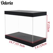 Odoria Acryl Display Case 37.5 Cm Perspex Box Self Installeren Stofdicht Big Size Voor 1/35 Tank Model Bokshandschoenen action Figures