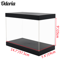 Odoria présentoir acrylique 37.5cm Perspex boîte auto installer anti poussière grande taille pour 1/35 réservoir modèle gants de boxe figurines