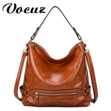 VOCUZ Bag handbag for women fashion retro simple bucket bag shoulder bag messenger pu oil leather large capacity bag 2020 new kamicy 2018 new style lady messenger bag slanting bag single shoulder bag slanting span simple leather large capacity women bag