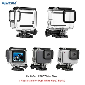 Image 2 - QIUNIU 40m Underwater Diving Waterproof Housing Case + Dive Lens Filter Kit for GoPro Hero 7 Silver/White for Go Pro 7 Accessory