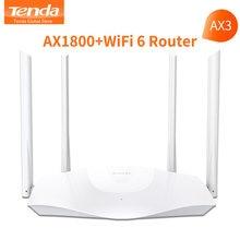 Tenda ax1800 ax3 wifi 6 roteador wi-fi sem fio de banda dupla 2.4ghz 5ghz gigabit porto ofdma repetidor amplificador de sinal pppoe
