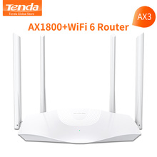 Tenda AX1800 AX3 WiFi 6 Wireless Wifi Router Dual-Band 2.4GHz 5GHz Gigabit Port OFDMA Repeater Signal Amplifier PPPoE