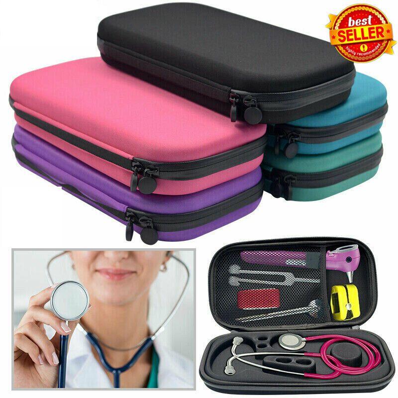 Storage Box Stethoscope Travel Case EVA Medical Carry Organizer Bag Hard /BY