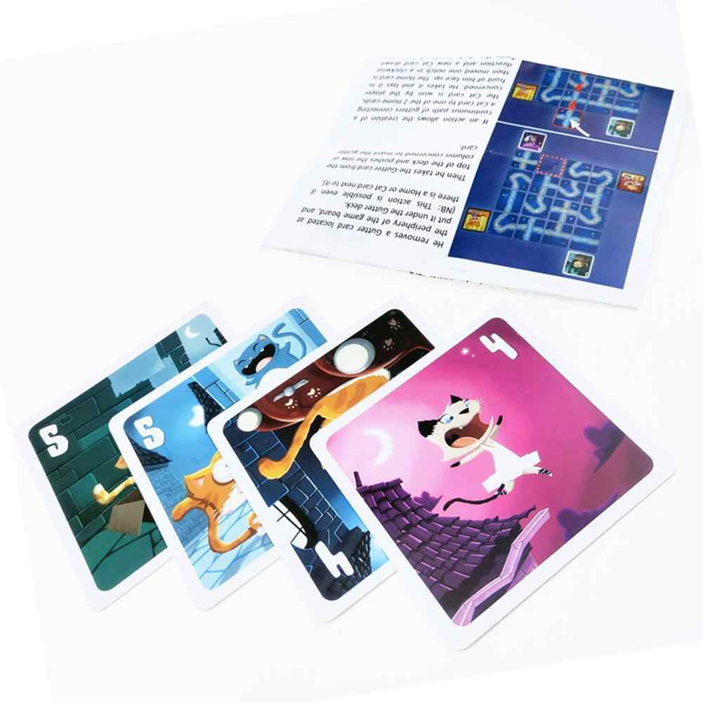2020 Nieuwste Stray Cats Engels Versie Tarot Kaarten Grappig Familie Board Game Card Playing Game Kaarten Party Games