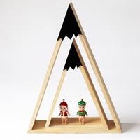 Nordic Wooden Storage Wall Shelf Creative Wall Trigon Storage Bookshelf DIY Home Children Baby Room Decoration