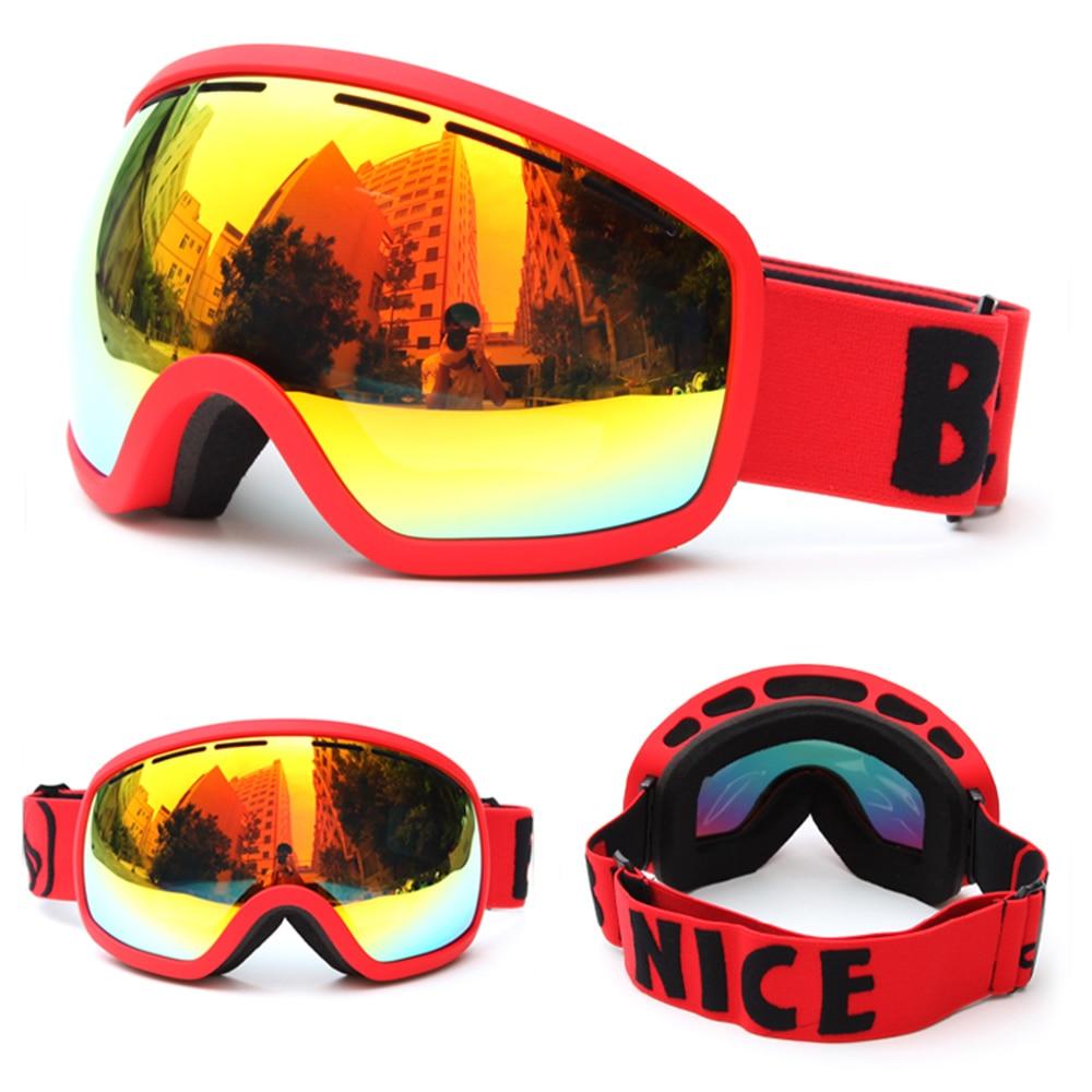 BENICE SNOW-2706 Skiing Goggles Anti-fog Big Ski Mask Glasses Skiing Eyewear Snow Snowboard Strap Helmet Skating Goggles UV400