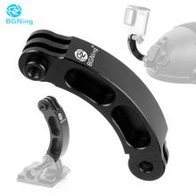 BGNing Aluminum Alloy Helmet Extension Arm Mount Self Photo Mount for GoPro Hero Max 8 7 6 for XiaoYi Action Camera Accessories
