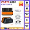 Vgate icar2 Bluetooth/Wifi OBD2 диагностический инструмент ELM327 Bluetooth OBD 2 сканер Мини ELM327 WiFi для Android/IOS/PC считыватель кодов