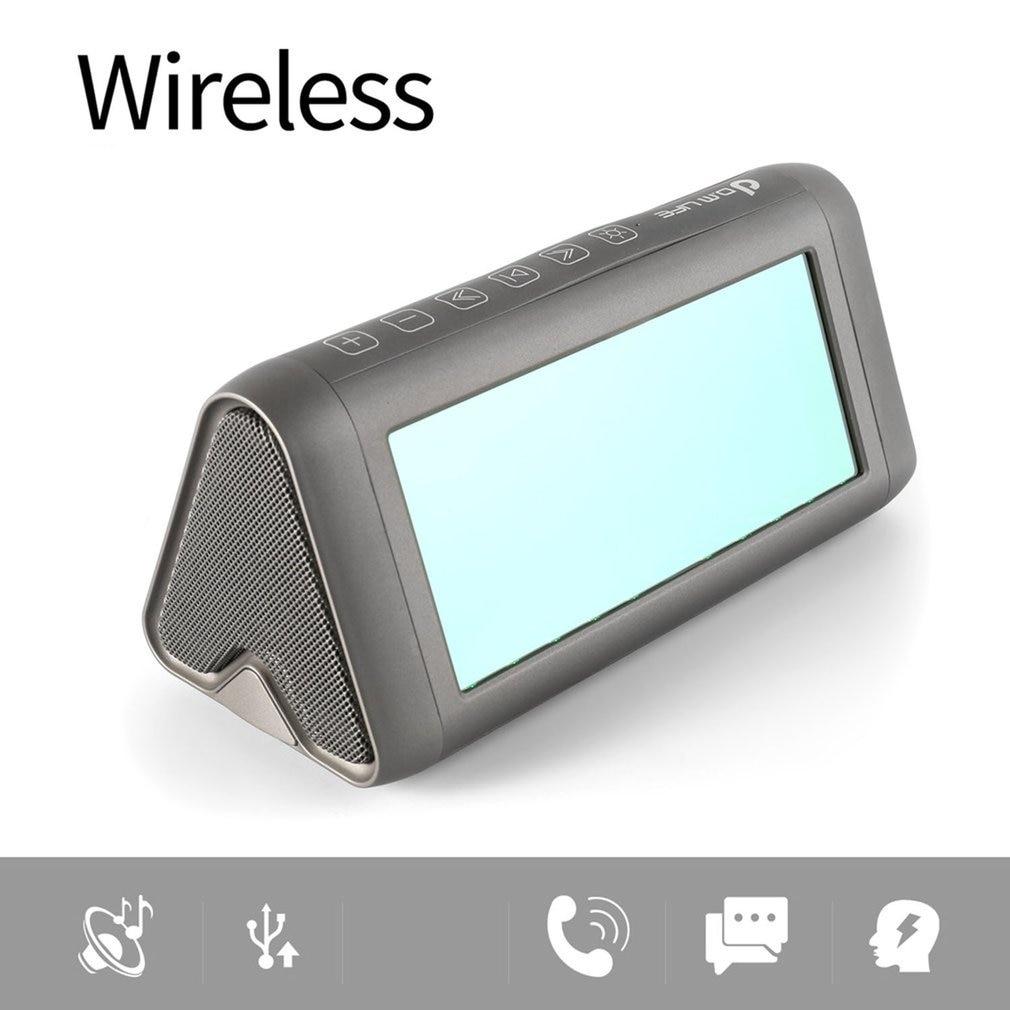Draagbare Magische Spiegel Speaker Virtual 3D LED Licht e Stereo bluetooth Speaker Bass Vervorming Gratis - 2