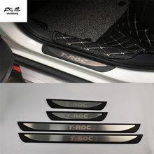 Накладки на педали для порога, из нержавеющей стали, АБС-пластик, 4 шт./лот, для автомобилей 2018, 2019, Volkswagen VW, T-ROC, A11