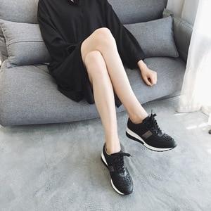 Image 5 - 2020 Flat Platform Sneakers Women Autumn Winter Brand Designer Casual Lightweight Ladies Shoes Hollow Dot Design