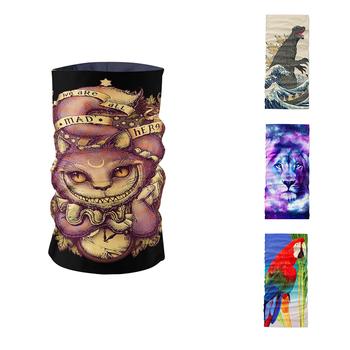 Kreatywny Design 3D Print mężczyźni kobiety szalik komin sport maska jeździecka stroik pyłoszczelna szalik z mikrofibry bez szwu rurowy chustka na głowę tanie i dobre opinie WOMEN Dla dorosłych Poliester Pierścień Drukuj Moda 60 cm Szaliki TJ44