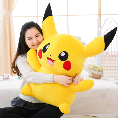 100cm Big Cute Pikachu Plush Toys Hot Anime Stuffed Animal Dolls Soft PP Cotton Pillow Kids Children Birthday Christmas Gifts