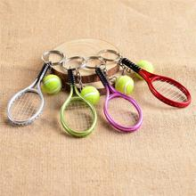 1Pc Mini Tennis Keychain Bag Phone Accessories Tenni Shape Sports Style Key Chains