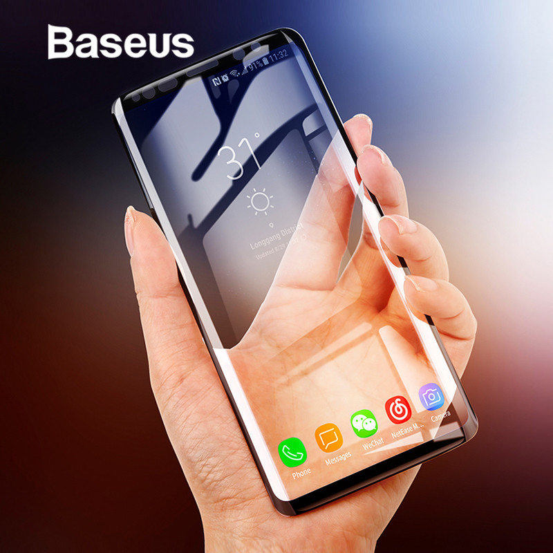 Baseus 3D Surface Screen <font><b>Protector</b></font> For <font><b>Samsung</b></font> Galaxy <font><b>S9</b></font> <font><b>S9</b></font>+ Ultra Thin Full Coverage Tempered Glass For <font><b>Samsung</b></font> <font><b>S9</b></font> <font><b>S9</b></font> Plus image