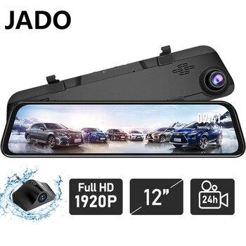 Cámara de salpicadero JADO G840S, cámara de 12 pulgadas de pantalla completa nocturna para coche, cámara Dvr 1296P trasera 1080P, cámara de conducción de vídeo, cámara de salpicadero automática