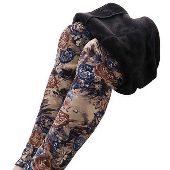 Zimowe damskie wysokiej elastyczności aksamitne legginsy Plus nowe kobiece spodnie z polaru Plus Size kwiat wydruku aksamitne ołówkowe spodnie OK334 tanie i dobre opinie BHIGJYT COTTON POLIESTER Pełna długość CN (pochodzenie) Zima Drukuj Na co dzień rurki Mieszkanie REGULAR Dla osób w wieku 18-35 lat