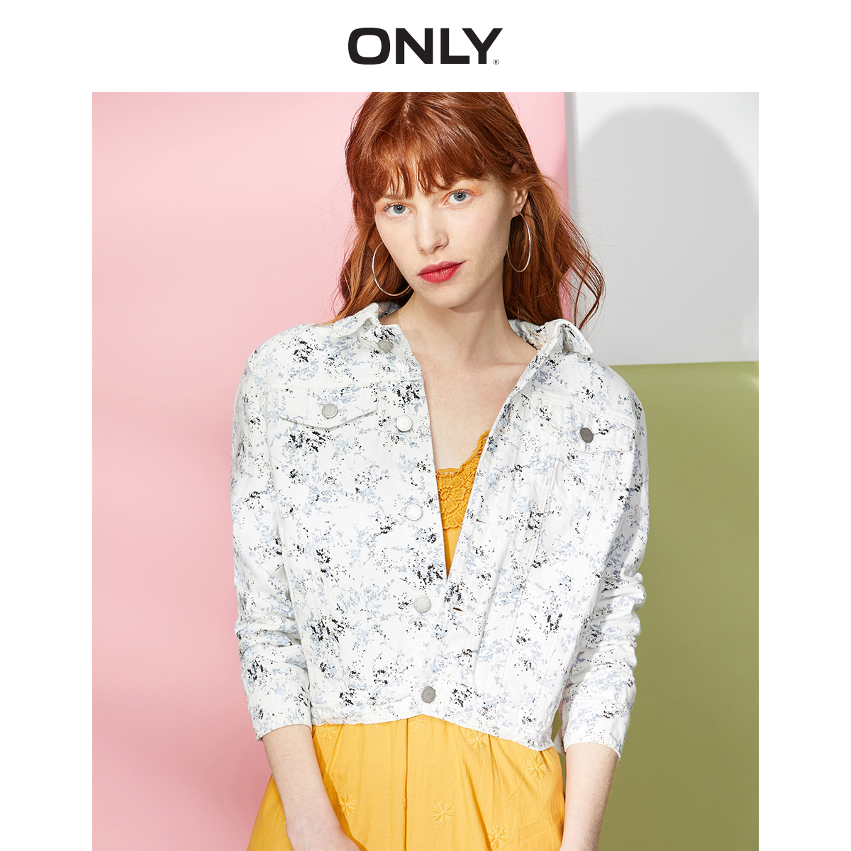 ONLY Women's Women's Printed Denim Jacket | 119154506