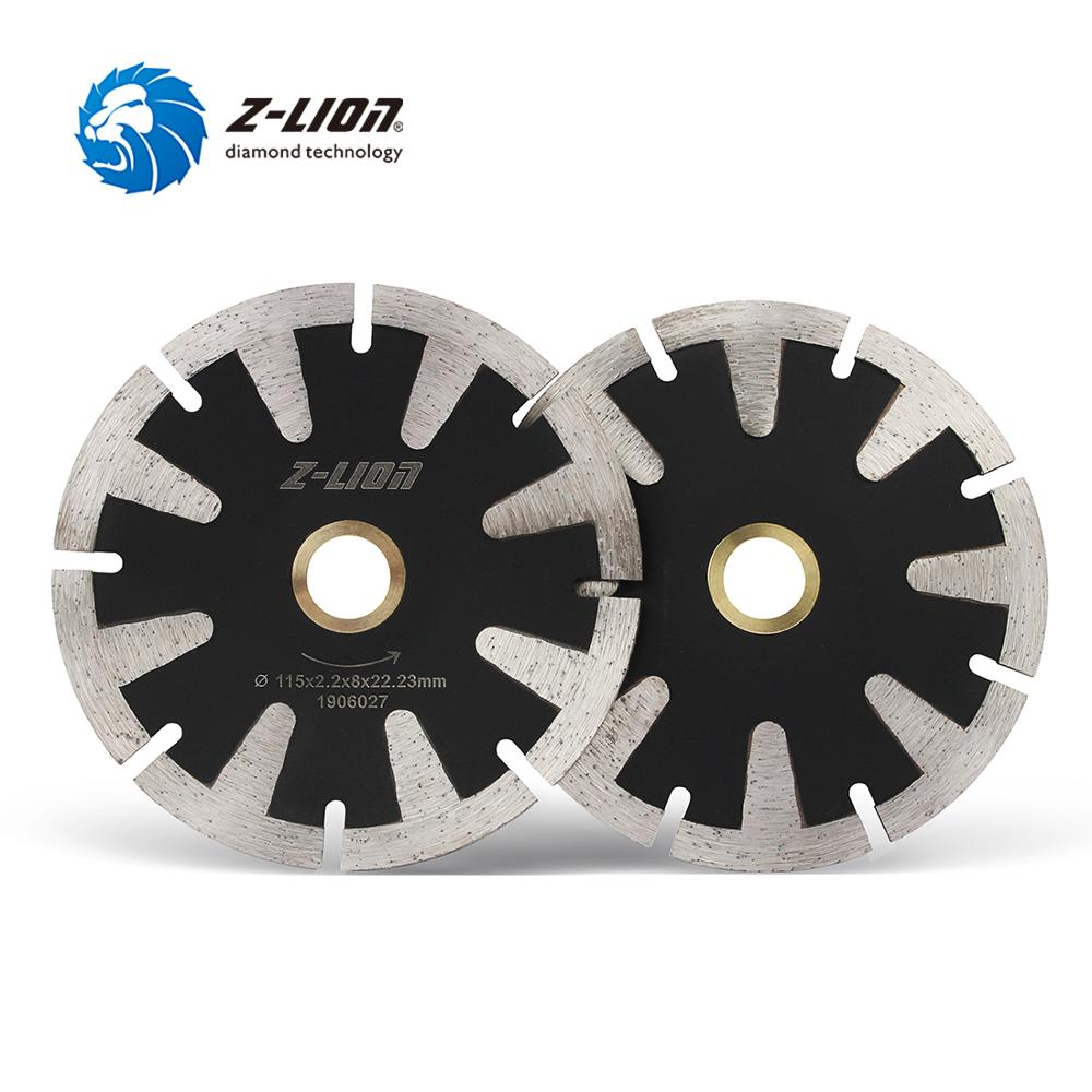Z-LION 115mm Diamond Curved Saw Blade T Segment Cutting Disc Granite Marble Concrete Wet Dry Cutting Wheel Arbor 22.23 Or 16mm